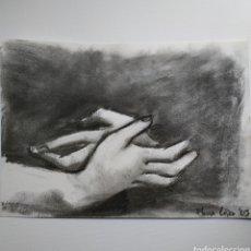 Arte: DIBUJO ORIGINAL, CARBONCILLO. MANOS. FIRMADO.. Lote 178605260