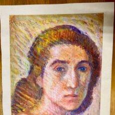 Arte: JOAN CARDELLÀ CRUSELLS 1900-1985, RETRATO DE MUJER AÑO 60, CERAS, 25X35 CM. Lote 178628207