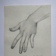 Arte: DIBUJO ORIGINAL FIRMADO. LÁPIZ DE GRAFITO. MANO.. Lote 178635586
