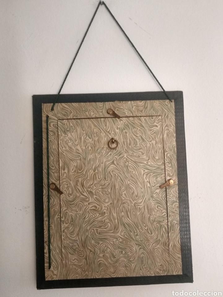 Arte: Dibujo romántico, regalo el marco, el dibujo, paspartú y marco todo es antiguo - Foto 4 - 178681438