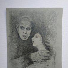 Arte: NOSFERATU, DIBUJO ORIGINAL GRAFITO, FIRMADO.. Lote 178708183