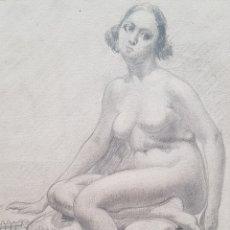 Arte: ESCUELA CATALANA (XX) - DESNUDO FEMENINO I TORSO MASCULINO.FIRMADOS.. Lote 178749067