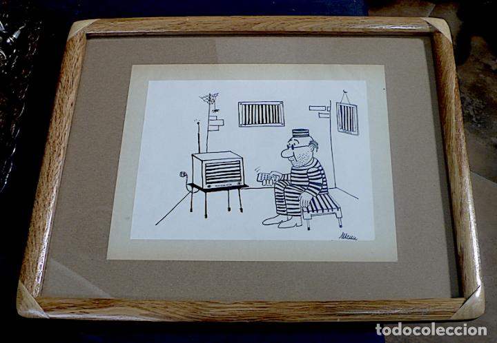 MENA, DIBUJO ORIGINAL TINTA, FIRMADO (Arte - Dibujos - Contemporáneos siglo XX)