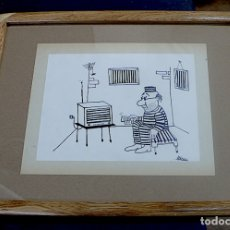 Arte: MENA, DIBUJO ORIGINAL TINTA, FIRMADO. Lote 178760845