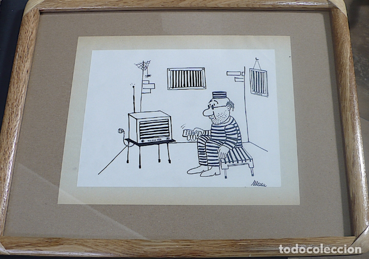 Arte: MENA, DIBUJO ORIGINAL TINTA, FIRMADO - Foto 3 - 178760845