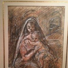 Arte: LA SAGRADA FAMILIA ATRIBUIDO A GIOVANNI DA SAN GIOVANNI (1592-1636). Lote 178853058