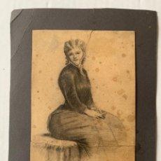 Arte: ENRIC CLARASÓ I DAUDÍ - DAMA. Lote 178888187