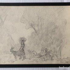 Arte: PERE SEGIMON CISA - DIBUJO DEDICADO Y FIRMADO. Lote 178893007