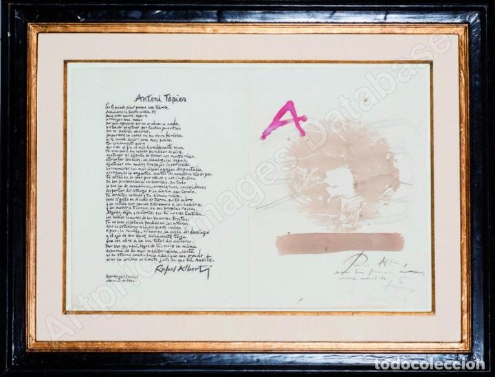 Arte: ANTONI TÀPIES Original 1979 ACRÍLICO, ACUARELA Y LÁPIZ CERTIFICADO DE AUTENTICIDAD COMISIÓN TAPIES - Foto 4 - 178906457
