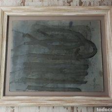Arte: MODEST CUIXART TECNICA MIXTA FECHADO EN 1962 MIDE 50 X 62 CM ENMARCADO MIDE 70 X 82 CM.. Lote 178964053