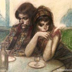 Arte: ALFREDO OPISSO CARDONA (BARCELONA 1907-MATARÓ 1980) EXCEPCIONAL DIBUJO CON ESCENA COSTUMBRISTA. Lote 161720850