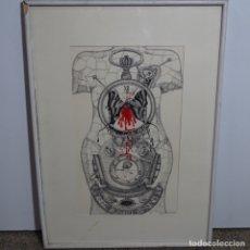 Arte: GRAN DIBUJO A LA TINTA FIRMADO DÍAZ.EXCELENTE TRAZO Y GRAN TRABAJO.. Lote 179051027