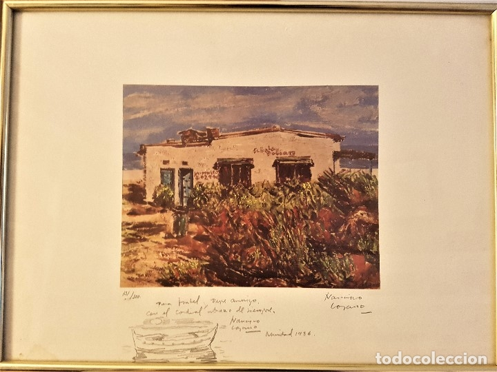 FRANCISCO LOZANO (ANTELLA 1912-VALENCIA 2000) DIBUIJO A LÁPIZ DE BARCAS .LITOGRAFÍA 30 X 41. 131/300 (Arte - Dibujos - Contemporáneos siglo XX)