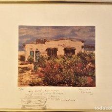 Arte: FRANCISCO LOZANO (ANTELLA 1912-VALENCIA 2000) DIBUIJO A LÁPIZ DE BARCAS .LITOGRAFÍA 30 X 41. 131/300. Lote 179094097