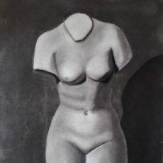 Arte: CARBONCILLO AÑOS 50/60. ESCULTURA CLÁSICA. Lote 179128190