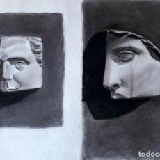Arte: CARBONCILLO AÑOS 50/60. DETALLES DE ESCULTURAS CLÁSICAS. Lote 179128301