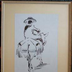 Arte: DIBUJO A TINTAS. FIRMADO ILEGIBLE.. Lote 179138216