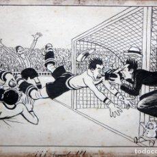 Arte: RICARDO OPISSO I SALA (TARRAGONA, 1880 - BARCELONA, 1966) DIBUJO ORIGINAL A TINTA Y CLARION. GOOL!!. Lote 179250336