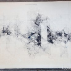 Arte: JOAN CLARET, DIBUJO TÉCNICA MIXTA, 1966, FORMAS GEOMÉTRICAS, FIRMADO Y FECHADO EN EL DORSO. 100X69CM. Lote 179399118