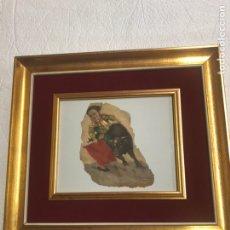 Arte: DIBUJO OLEO/PAPEL FIRMADO J.BELTRAN MEDIDAS 20X16 CON MARCO 27X33. Lote 179867123
