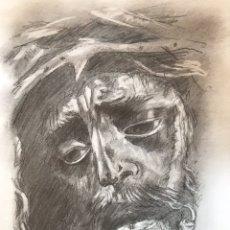 Arte: SEMANA SANTA SEVILLA. DIBUJO DEL SEÑOR DEL GRAN PODER. ARTISTA: JUAN LUIS AGUADO. LEER DESCRIPCIÓN.. Lote 179960392