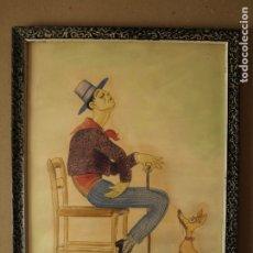 Arte: JOAQUIM XAUDARÓ - DIBUJO EN COLOR ORIGINAL. Lote 180017825