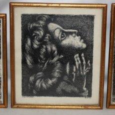 Arte: ALEJANDRO SIRIO (OVIEDO, 1890 - BUENOS AIRES, 1953) CONJUNTO DE 3 DIBUJOS A TINTA ORIGINALES. Lote 180110436