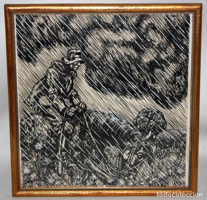 Arte: ALEJANDRO SIRIO (Oviedo, 1890 - Buenos Aires, 1953) CONJUNTO DE 3 DIBUJOS A TINTA ORIGINALES - Foto 2 - 180110436