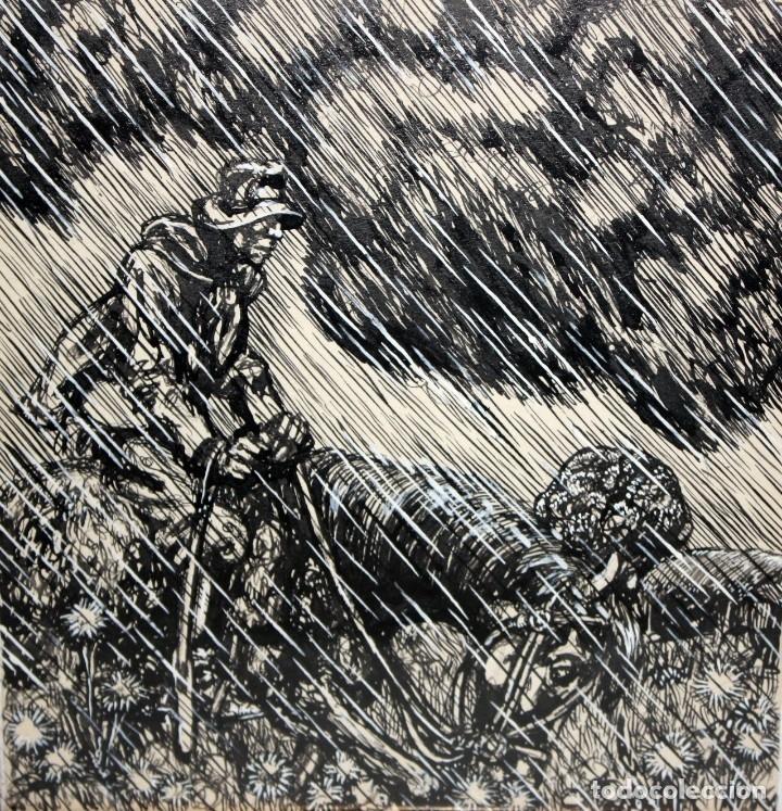 Arte: ALEJANDRO SIRIO (Oviedo, 1890 - Buenos Aires, 1953) CONJUNTO DE 3 DIBUJOS A TINTA ORIGINALES - Foto 3 - 180110436