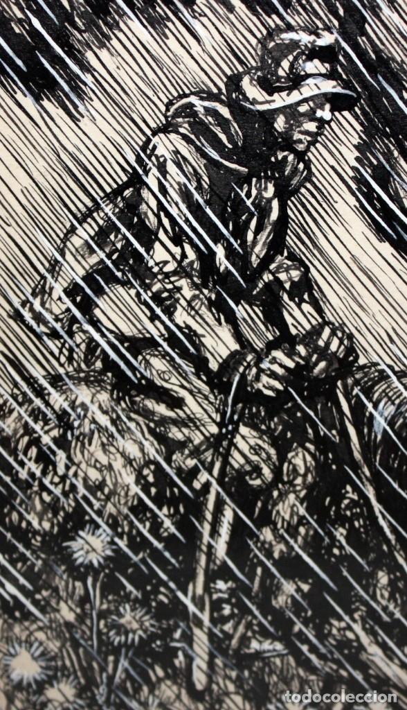 Arte: ALEJANDRO SIRIO (Oviedo, 1890 - Buenos Aires, 1953) CONJUNTO DE 3 DIBUJOS A TINTA ORIGINALES - Foto 4 - 180110436