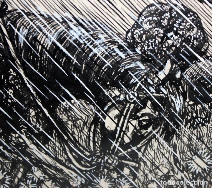 Arte: ALEJANDRO SIRIO (Oviedo, 1890 - Buenos Aires, 1953) CONJUNTO DE 3 DIBUJOS A TINTA ORIGINALES - Foto 5 - 180110436