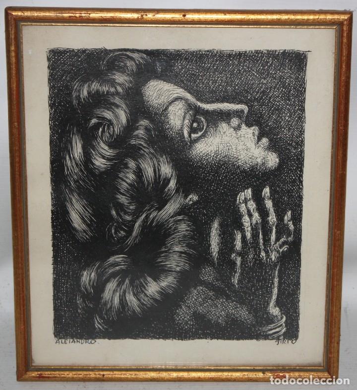 Arte: ALEJANDRO SIRIO (Oviedo, 1890 - Buenos Aires, 1953) CONJUNTO DE 3 DIBUJOS A TINTA ORIGINALES - Foto 8 - 180110436
