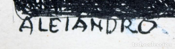 Arte: ALEJANDRO SIRIO (Oviedo, 1890 - Buenos Aires, 1953) CONJUNTO DE 3 DIBUJOS A TINTA ORIGINALES - Foto 11 - 180110436