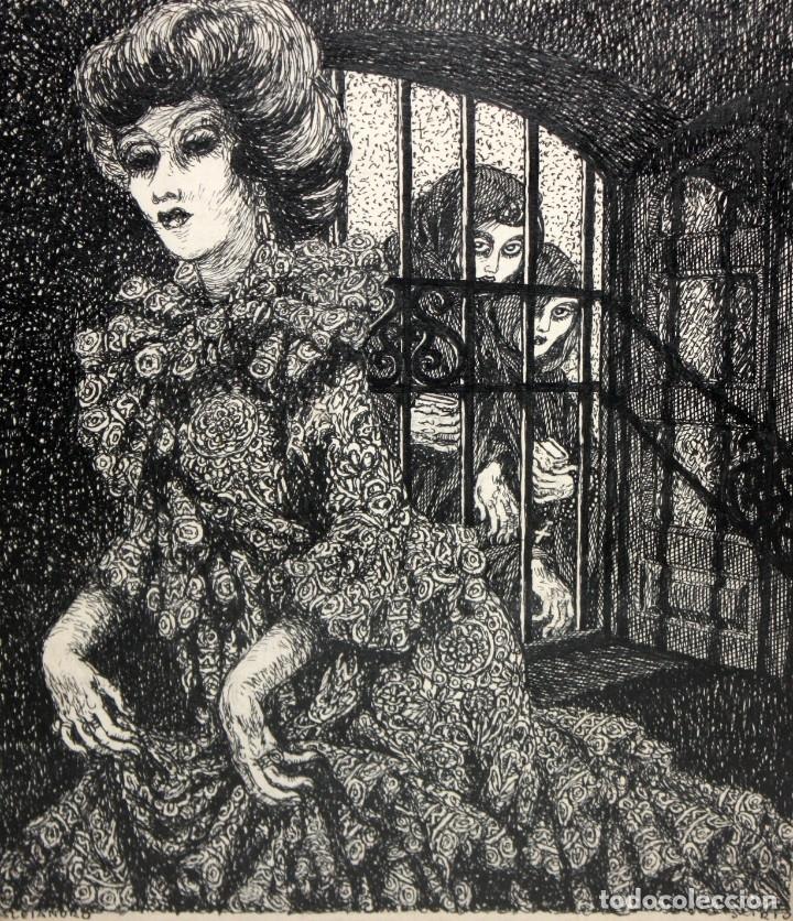 Arte: ALEJANDRO SIRIO (Oviedo, 1890 - Buenos Aires, 1953) CONJUNTO DE 3 DIBUJOS A TINTA ORIGINALES - Foto 13 - 180110436