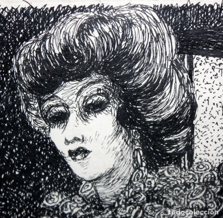 Arte: ALEJANDRO SIRIO (Oviedo, 1890 - Buenos Aires, 1953) CONJUNTO DE 3 DIBUJOS A TINTA ORIGINALES - Foto 14 - 180110436