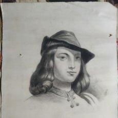 Arte: DIBUJO CARBÓN ORIGINAL, FIRMADO XX. Lote 180387227