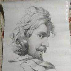 Arte: DIBUJO CARBÓN ORIGINAL,FIRMADO XX. Lote 180387838