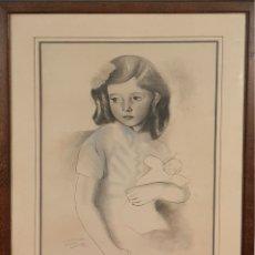 Arte: DIBUJO AL PASTEL SOBRE BASE LITOGRÁFICA. FRANCESC DOMINGO. 1945. . Lote 180701520