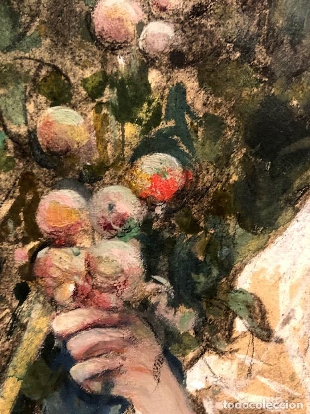 Arte: DIBUJO ARCADI MAS Y FONDEVILA - DAMA EN EL JARDÍN - 62 x 46 cm - MODERNISTA - Foto 5 - 180903312