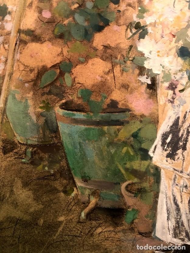 Arte: DIBUJO ARCADI MAS Y FONDEVILA - DAMA EN EL JARDÍN - 62 x 46 cm - MODERNISTA - Foto 8 - 180903312