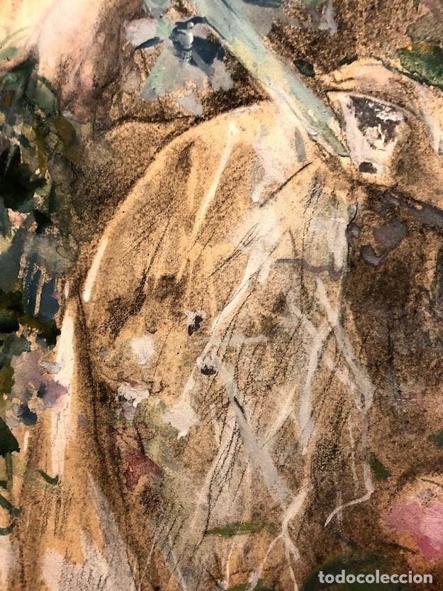 Arte: DIBUJO ARCADI MAS Y FONDEVILA - DAMA EN EL JARDÍN - 62 x 46 cm - MODERNISTA - Foto 10 - 180903312