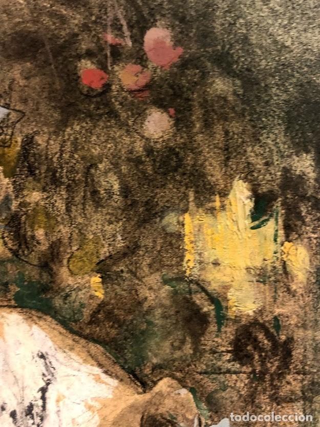 Arte: DIBUJO ARCADI MAS Y FONDEVILA - DAMA EN EL JARDÍN - 62 x 46 cm - MODERNISTA - Foto 12 - 180903312