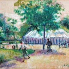 Arte: FELIX ALBAJES GARCIA (BARCELONA, 1911 - 1996) DIBUJO A PASTEL FIRMADO Y FECHADO DEL AÑO 1980. CIRCO. Lote 180941165
