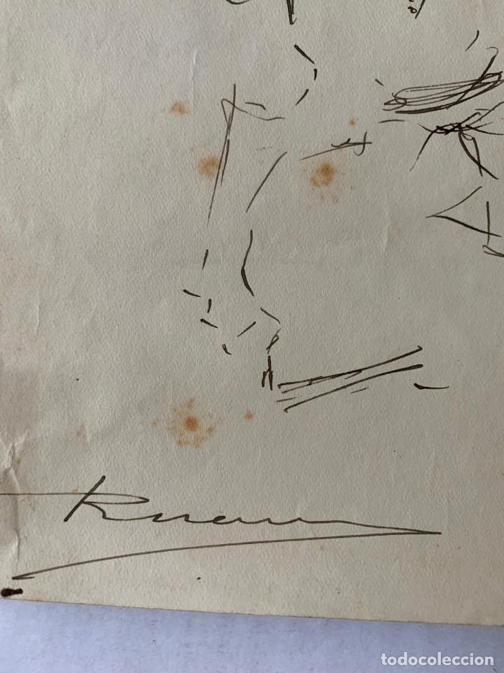 Arte: RICARDO MARÍN - A CABALLO - 2 DIBUJOS FIRMADOS Y 1 SIN FIRMAR - Foto 3 - 180953647