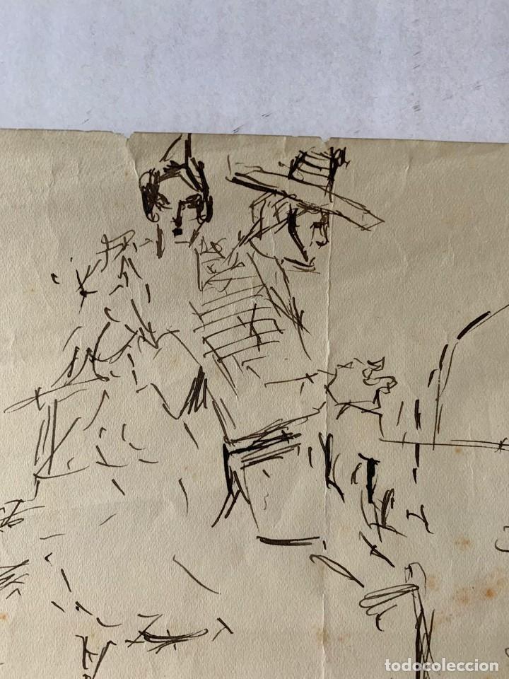 Arte: RICARDO MARÍN - A CABALLO - 2 DIBUJOS FIRMADOS Y 1 SIN FIRMAR - Foto 4 - 180953647