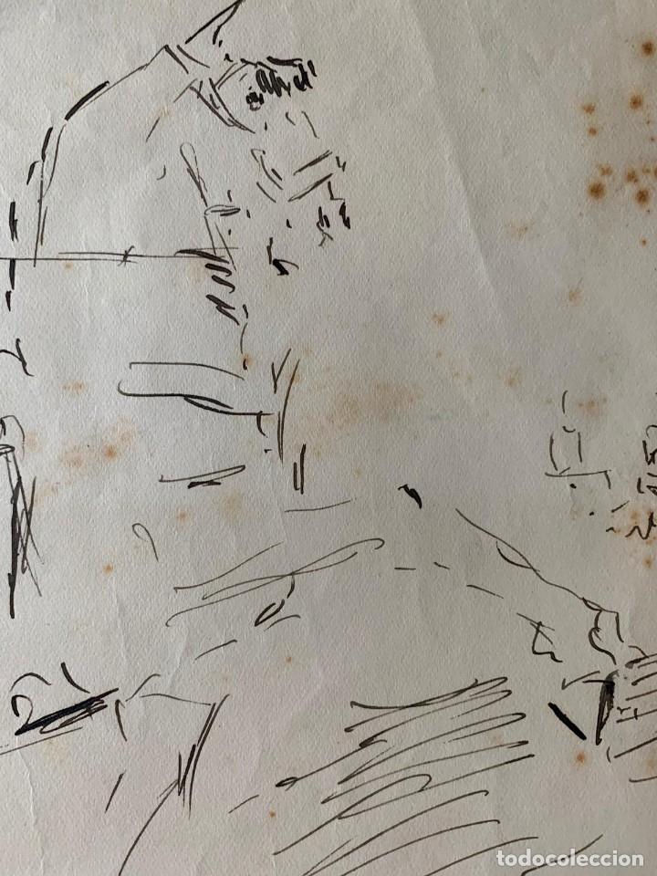 Arte: RICARDO MARÍN - A CABALLO - 2 DIBUJOS FIRMADOS Y 1 SIN FIRMAR - Foto 6 - 180953647