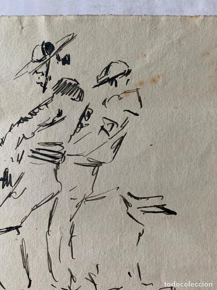Arte: RICARDO MARÍN - A CABALLO - 2 DIBUJOS FIRMADOS Y 1 SIN FIRMAR - Foto 7 - 180953647