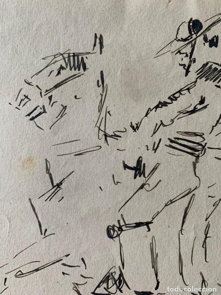 Arte: RICARDO MARÍN - A CABALLO - 2 DIBUJOS FIRMADOS Y 1 SIN FIRMAR - Foto 10 - 180953647