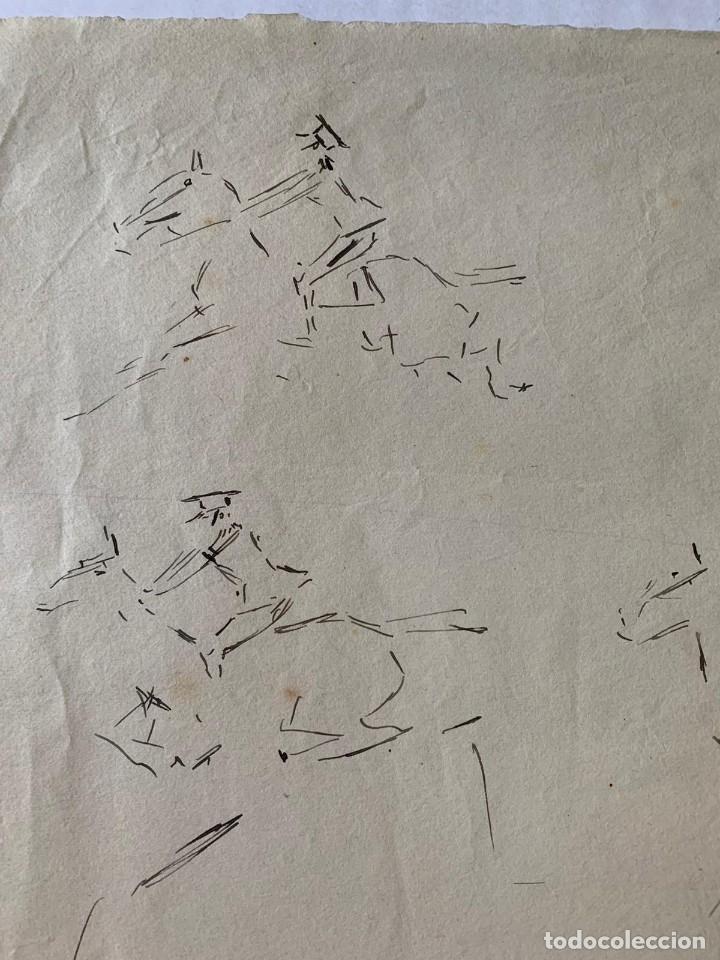 Arte: RICARDO MARÍN - A CABALLO - 2 DIBUJOS FIRMADOS Y 1 SIN FIRMAR - Foto 11 - 180953647