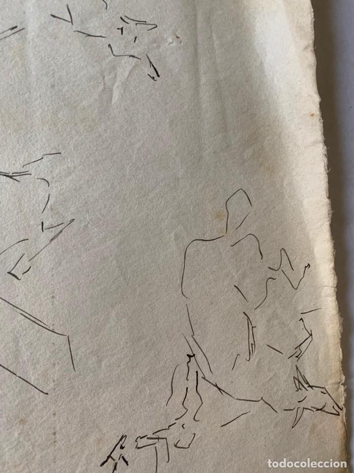 Arte: RICARDO MARÍN - A CABALLO - 2 DIBUJOS FIRMADOS Y 1 SIN FIRMAR - Foto 12 - 180953647
